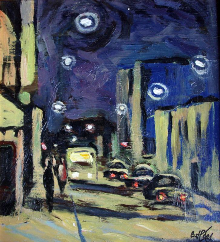 Valeriy NESTEROV - Gemälde - Taganskaya street. Moscow