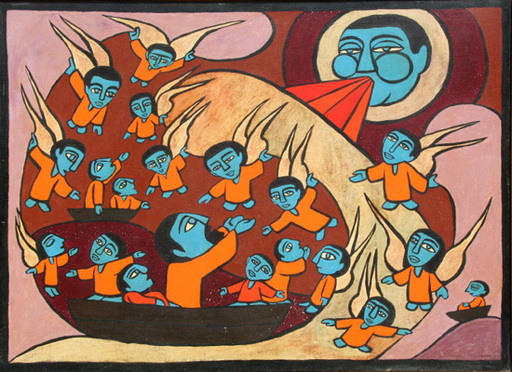 Raimundo DE OLIVEIRA - 绘画 - Jonah and the Whale