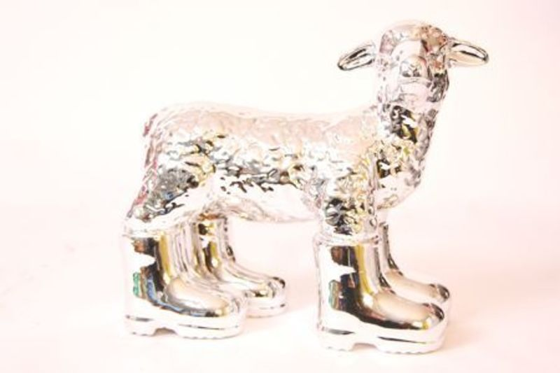 William SWEETLOVE - Sculpture-Volume - Cloned SILVER porcelain lamb