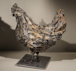 Bertrand FAUCONNET - Sculpture-Volume - Poule