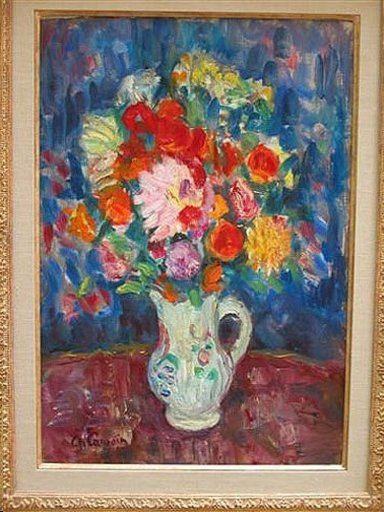 Charles CAMOIN - Pittura - Bouquet of fleurs