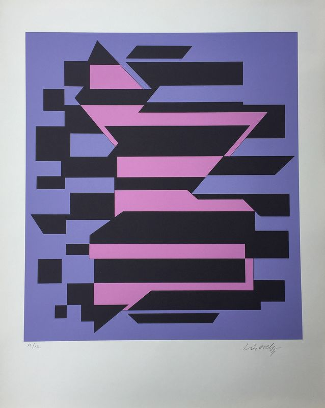 Victor VASARELY - Estampe-Multiple - Flores