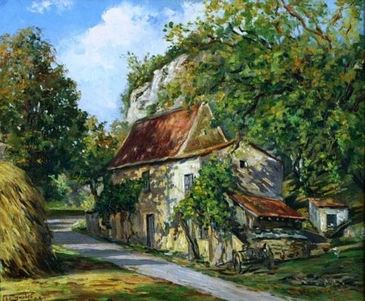 Max Serge CHAILLOUX - Painting - Ferme a flan de coteau