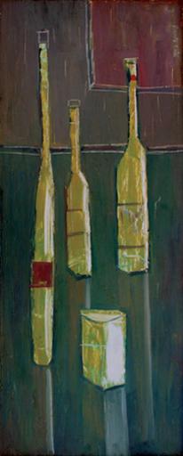 Angel ACOSTA LÉON - Pintura - Botellas