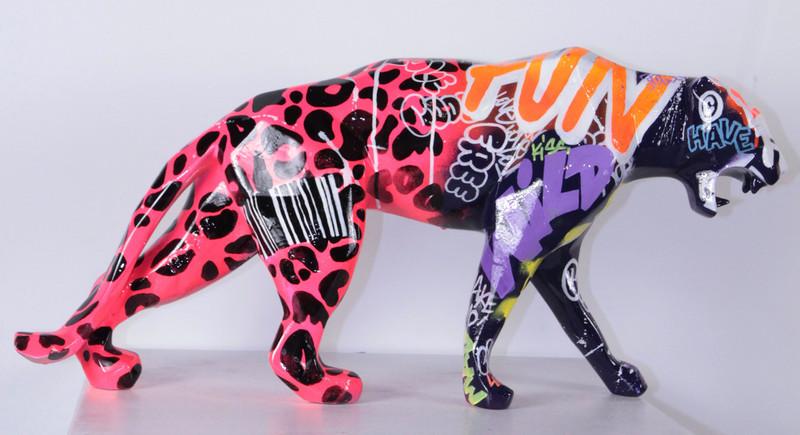 Richard ORLINSKI - Scultura Volume - Wild panther - tagué