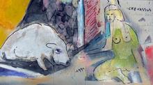 Jean-Pierre CHEVASSUS-AGNES - Painting - composition imaginaire en techniques mixtes