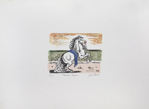Giorgio DE CHIRICO - Stampa-Multiplo - Il cavallino bianco, 1971