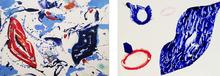 Sam FRANCIS - Estampe-Multiple - Untitled -  2 monotypes