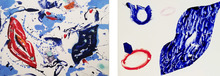 Sam FRANCIS - Print-Multiple - Untitled -  Two monotypes from Baby Lips series
