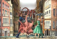 Vanni CUOGHI - Drawing-Watercolor - Saluti da Venezia