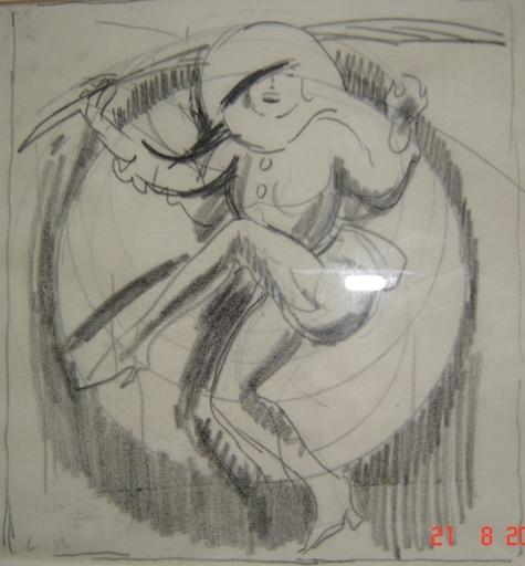 Ludovic Rodo PISSARRO - Drawing-Watercolor - L'ARLEQUIN