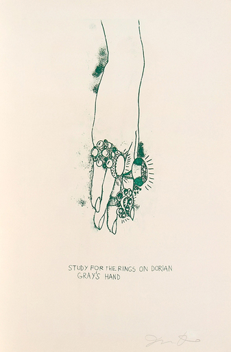 Jim DINE - Stampa-Multiplo - Study for the Rings on Dorian Gray's Hand