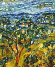 Auguste DUREL - Painting - Villages dans les montagnes de Provence (N° 43bis)