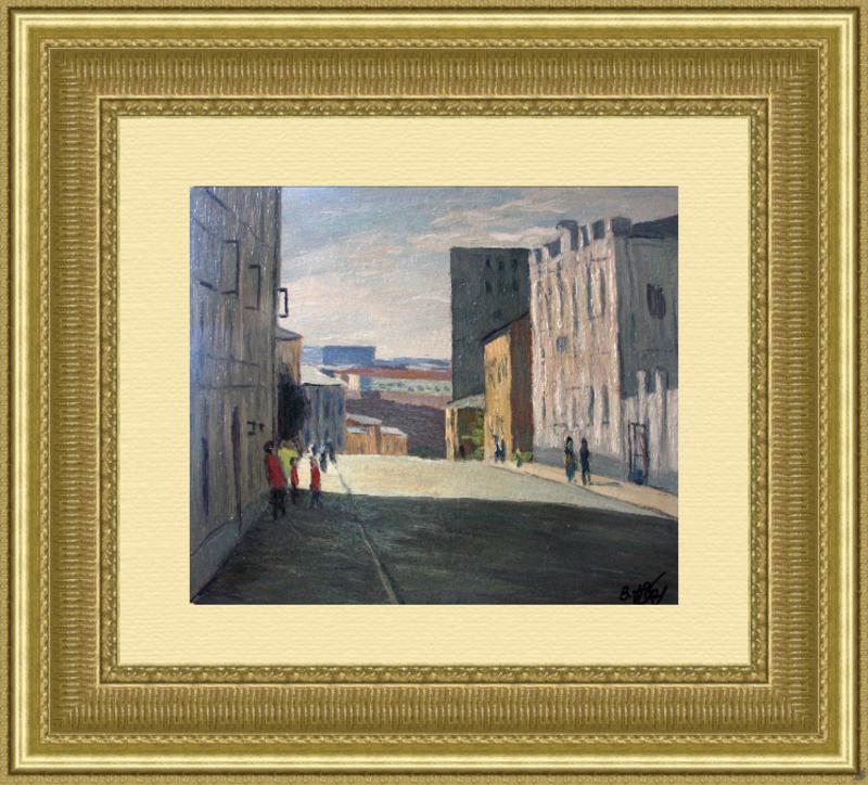 Valeriy NESTEROV - Pintura - Pushkarev lane. Moscow