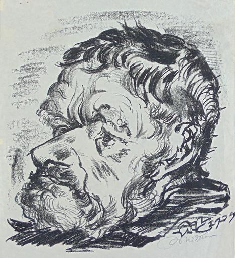 Ludwig MEIDNER - Print-Multiple - Old Man   Alter Mann