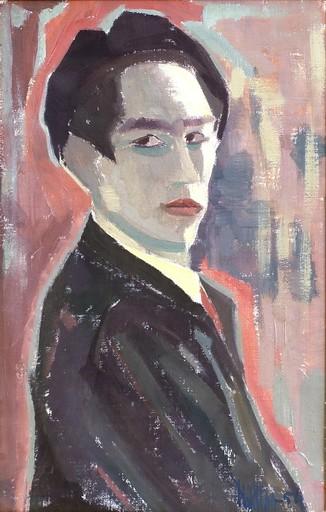 Helen KHAL - Pintura - Portrait of Yusuf Al Khal Lebanese poet & her husband
