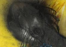 Otto PIENE - Dessin-Aquarelle - Dark Romance