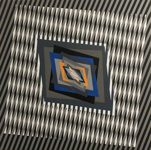 Ferruccio GARD - Painting - Cromatism and optical art 16/80/4