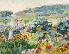 Henri Edmond CROSS - Painting - La haie de roses