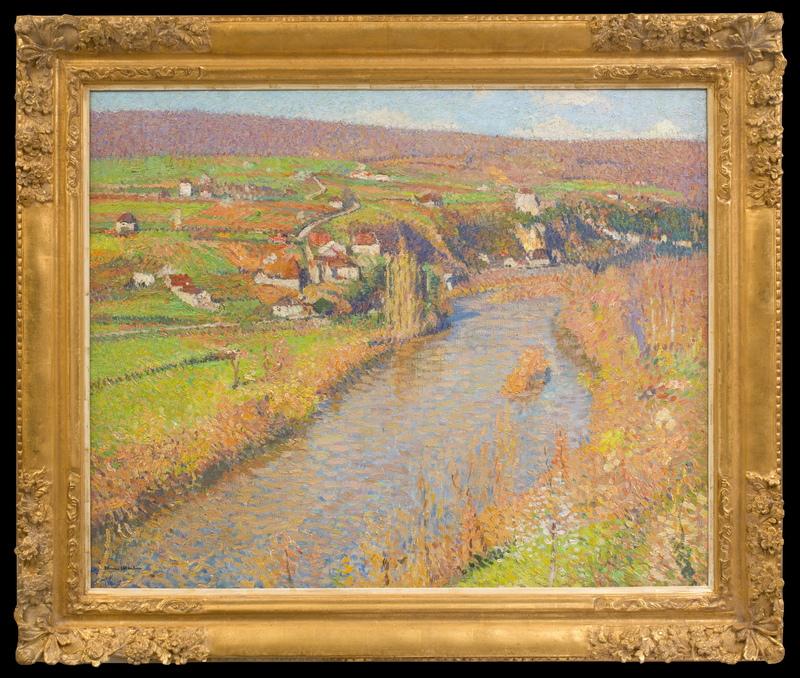 Henri MARTIN - Peinture - La Vallée du Lot Vue Depuis la Maison de St Cirq Lapopie