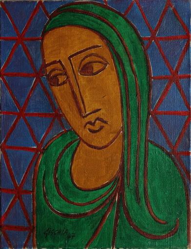 Léon GISCHIA - 绘画 - Portrait de jeune femme