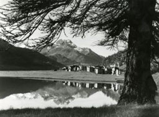 Gustav SOMMER - Photo - Silvaplana mit Piz la Marga im Oberengadin.
