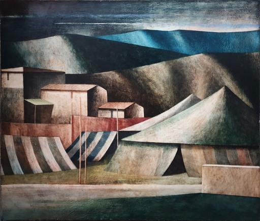Marcello SCUFFI - Peinture - Il Circo ed il suo accampamento