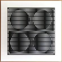 Antonio ASIS - Sculpture-Volume - Vibartion 4 cercles Noir et Blanc