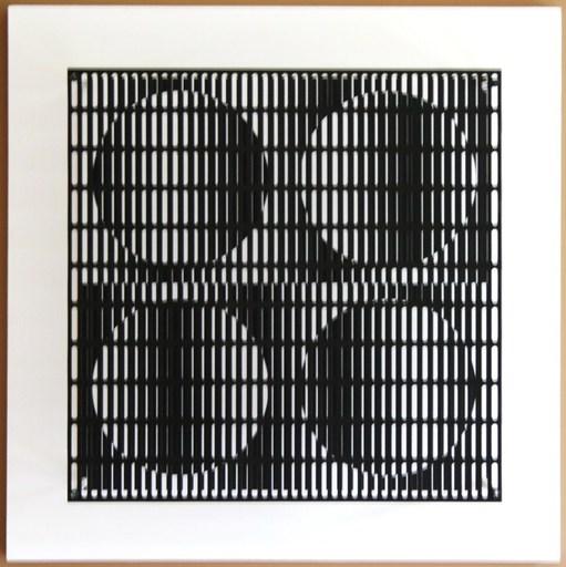 Antonio ASIS - Escultura - Vibartion 4 cercles Noir et Blanc