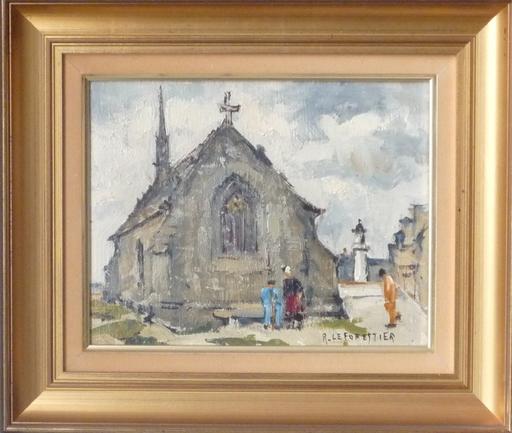 René LEFORESTIER - Painting - concarneau chapelle notre dame du bon secours
