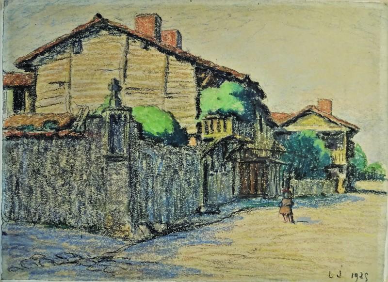 Léon JOUHAUD - Drawing-Watercolor - Vieux quartier à Limoges
