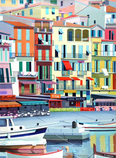 GENEVRAIE - Pintura - Le port de Marseille