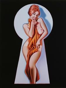 Mel RAMOS - Estampe-Multiple - Peek-a-Boo (the towel)