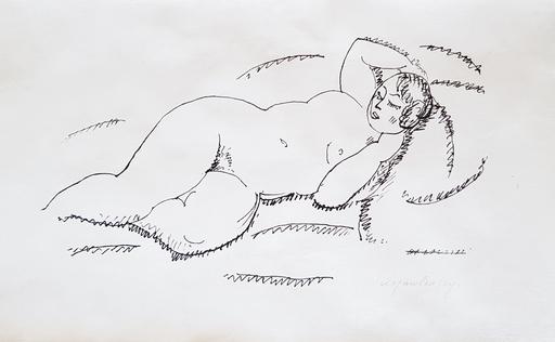 阿历克塞•冯•雅弗林斯基 - 版画 - Liegender weiblicher Akt II