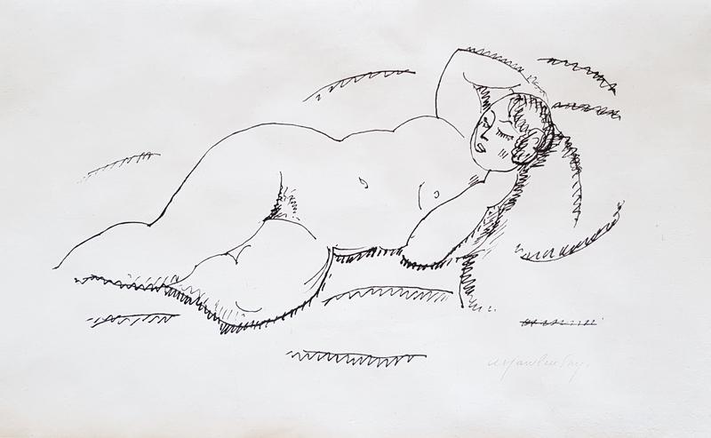 Alexej VON JAWLENSKY - Print-Multiple - Liegender weiblicher Akt II