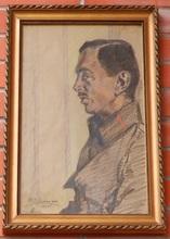 Maximilian SCHURMANN - Drawing-Watercolor - Portrait of a Soldier