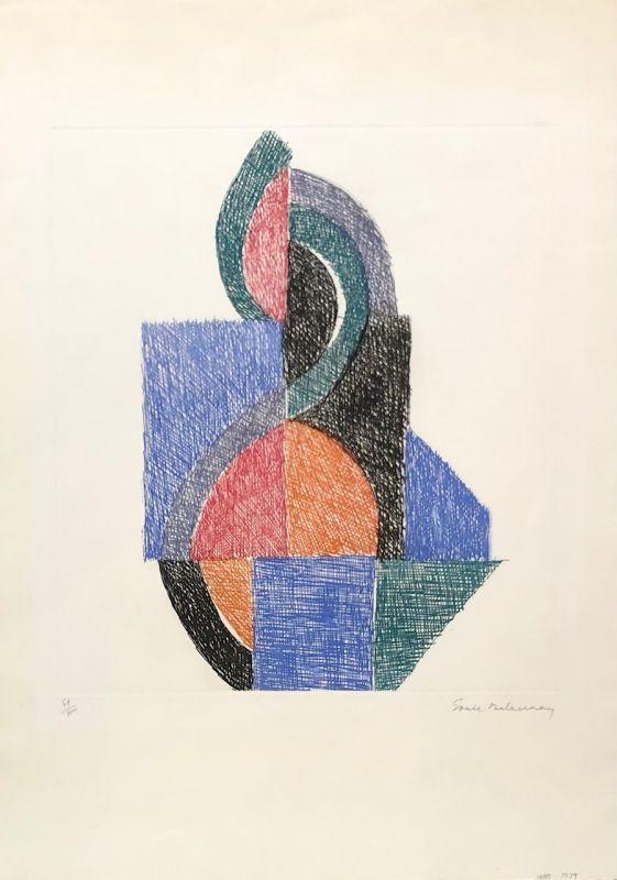 Sonia DELAUNAY - Stampa-Multiplo - Rythme V