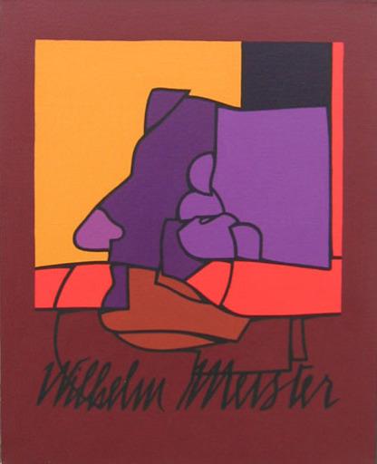 Valerio ADAMI - Painting - Studio per lezioni  sulla libertà Wilhelm Meister