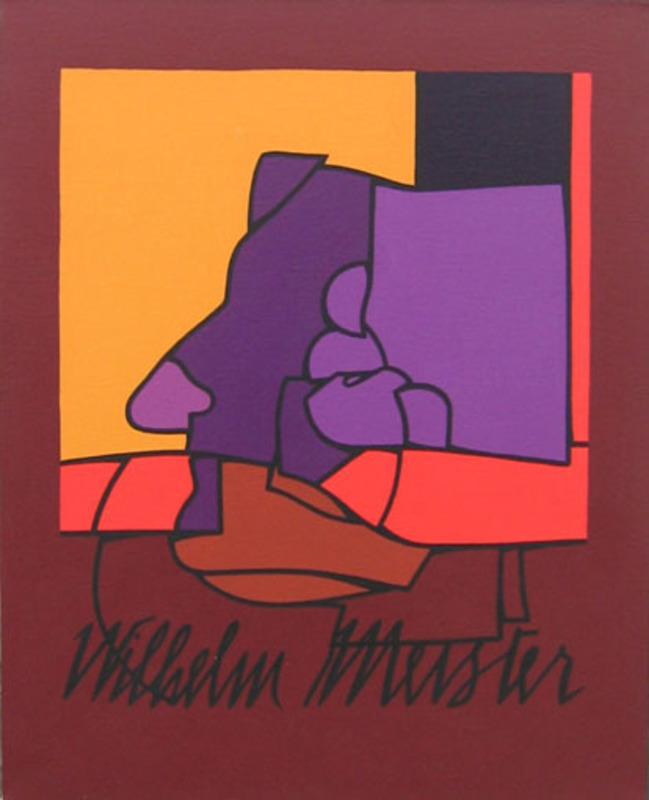 Valerio ADAMI - Peinture - Studio per lezioni  sulla libertà Wilhelm Meister