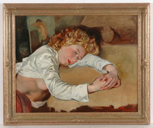 """Pierre Laurent BRENOT - Peinture - """"Armel"""", oil on canvas, 1960/70s"""