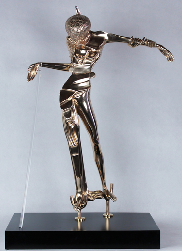 Salvador DALI - Sculpture-Volume - Femme à la tête de rose
