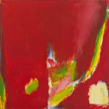 Olivier DEBRÉ - Pintura - Rouge à la tâche jaune