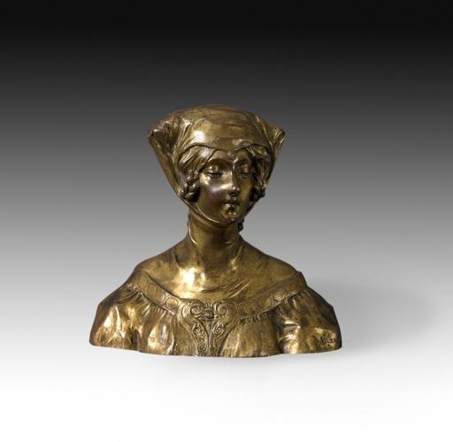 Suzanne BIZARD - Escultura - Jeune femme en habit médiéval