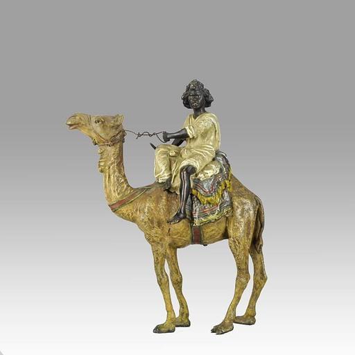 Franz BERGMANN - Sculpture-Volume - Young Arab on a Camel