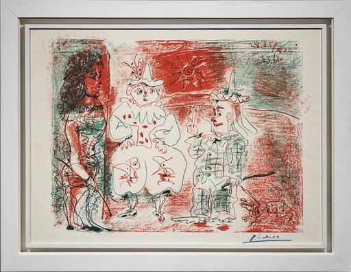 巴勃罗•毕加索 - 版画 - L'Ecuyère et les clowns