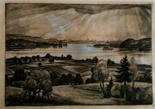 Walter WAENTIG - Grabado - Landscape in Germany