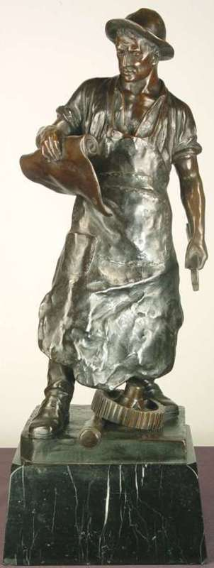 Julius Paul SCHMIDT-FELLING - Escultura - Industrial Worker
