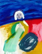 Menashe KADISHMAN - Peinture - Shepherd - Homage to Van Gogh