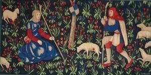 Edmond Amédée MELOT - Tapiz - Scène champêtre