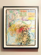 凯特•哈林 - 水彩作品 - Subway Map